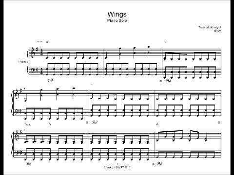 Wings By Birdy Piano Solo Sheet Music Youtube