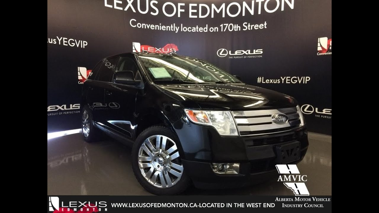 Used  Black Ford Edge Limited Awd Walkaround Review Airdrie Alberta