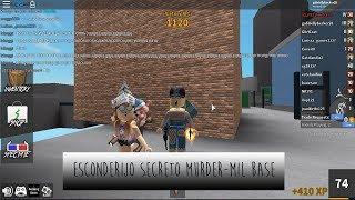 ESCONDERIJO SECRETO - Roblox (Murder Mystery 2) Milbase | Vih Gameblox