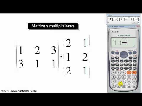 mathe video matrizen multiplizieren mit taschenrechner. Black Bedroom Furniture Sets. Home Design Ideas