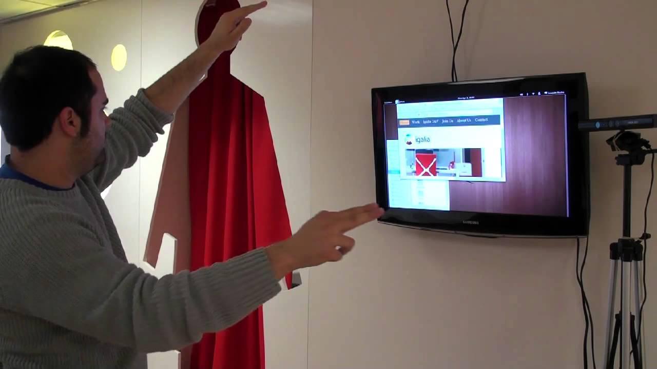 Control Gnome 3 Desktop with hand gestures