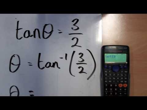 How to use a calculators inverse tan function