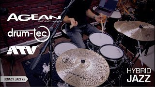 Agean Natural Jazz cymbals with ATV aD5 & drum-tec electronic drums hybrid