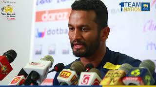 Dimuth Karunaratne after winning the 1st Test against New Zealand
