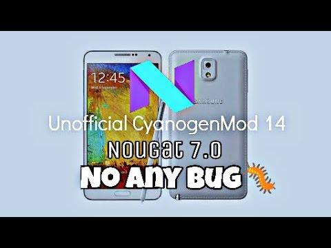 Nougat7 1 update rom no bug! galaxy note3