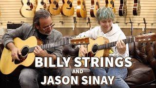 Billy Strings \u0026 Jason Sinay playing 2 Don Musser Custom Guitars at Norman's Rare Guitars