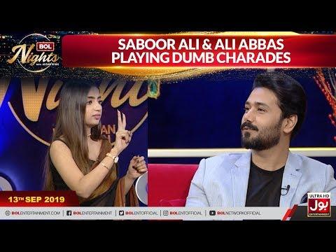 Saboor Ali & Ali Abbas Playing Dumb Charades | Dumb Charades | BOL Nights With Ahsan Khan