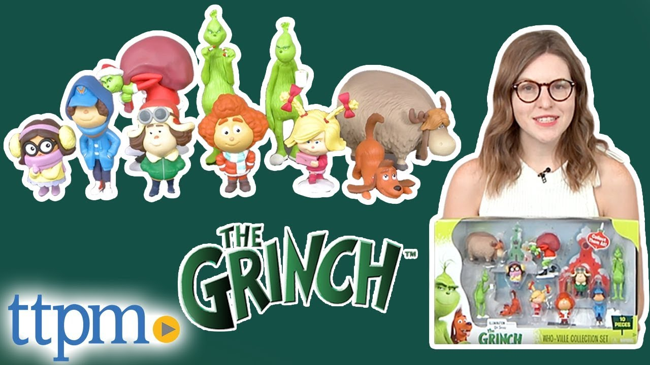 The Grinch Movie 2018 Who-Ville Collection Set 10 Action Figures by Just Play