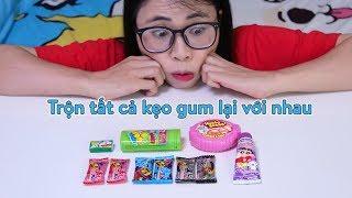 Thử Trộn Tất Cả Các Loại Kẹo Gum Lại Với Nhau - Mix All Gum