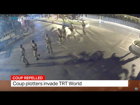 Coup plotters invade TRT World building in Istanbul. Sourav Roy reports