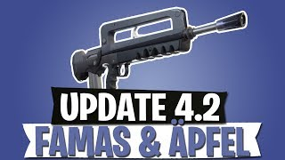 UPDATE 4.2 | FAMAS & ÄPFEL | LEGENDARY BURST | FORTNITE BATTLE ROYALE Deutsch