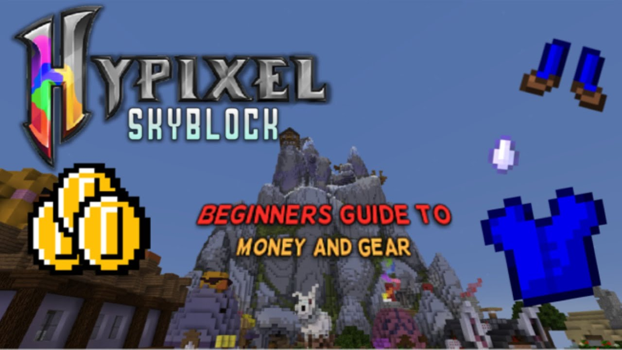"Hypixel Skyblock l""How to Get Money and Gear for a Beginner""l"