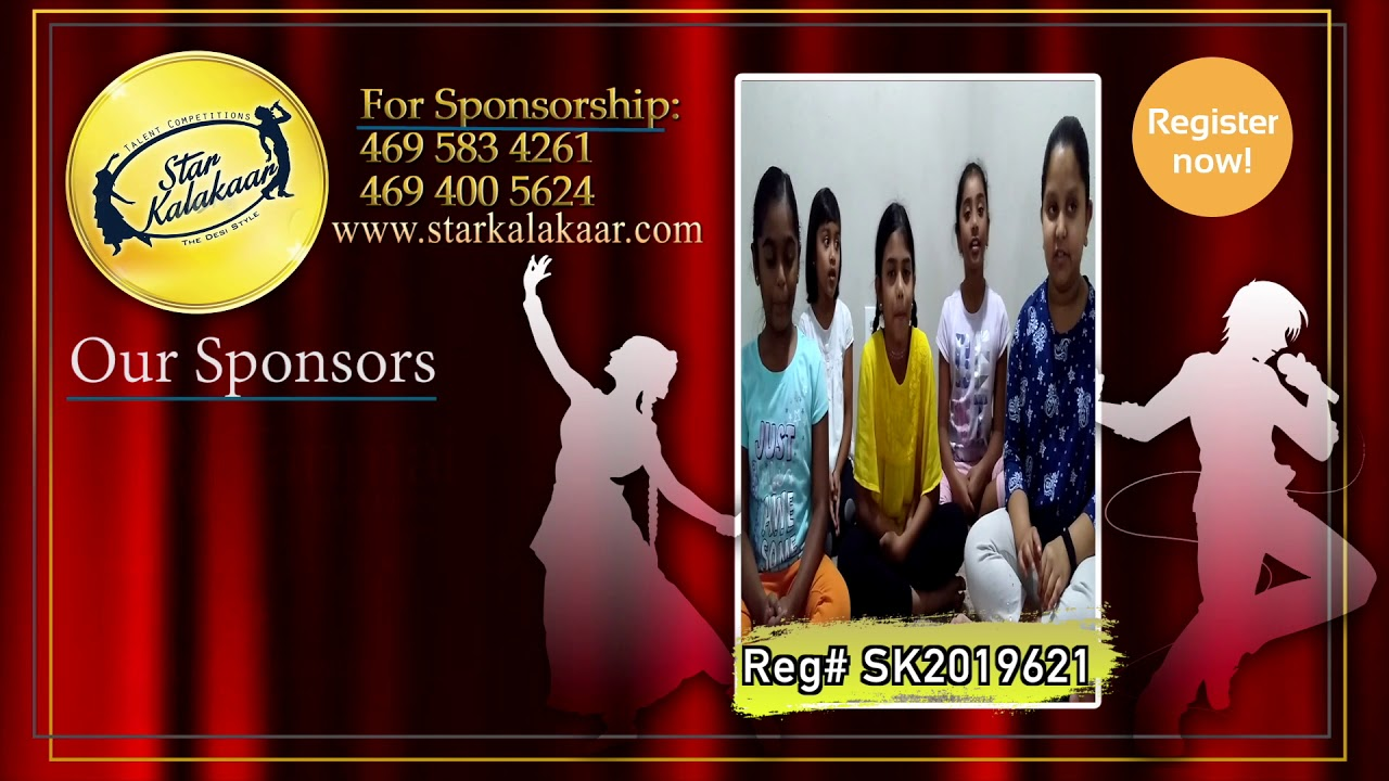 Registration NO - SK2019621 - Introduction Videos StarKalakaar-2019 #SK2019