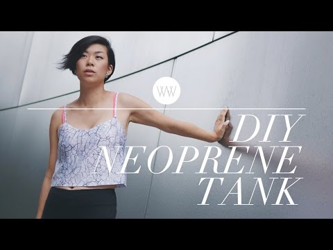 How to Make a Neoprene Tank Top   WITHWENDY