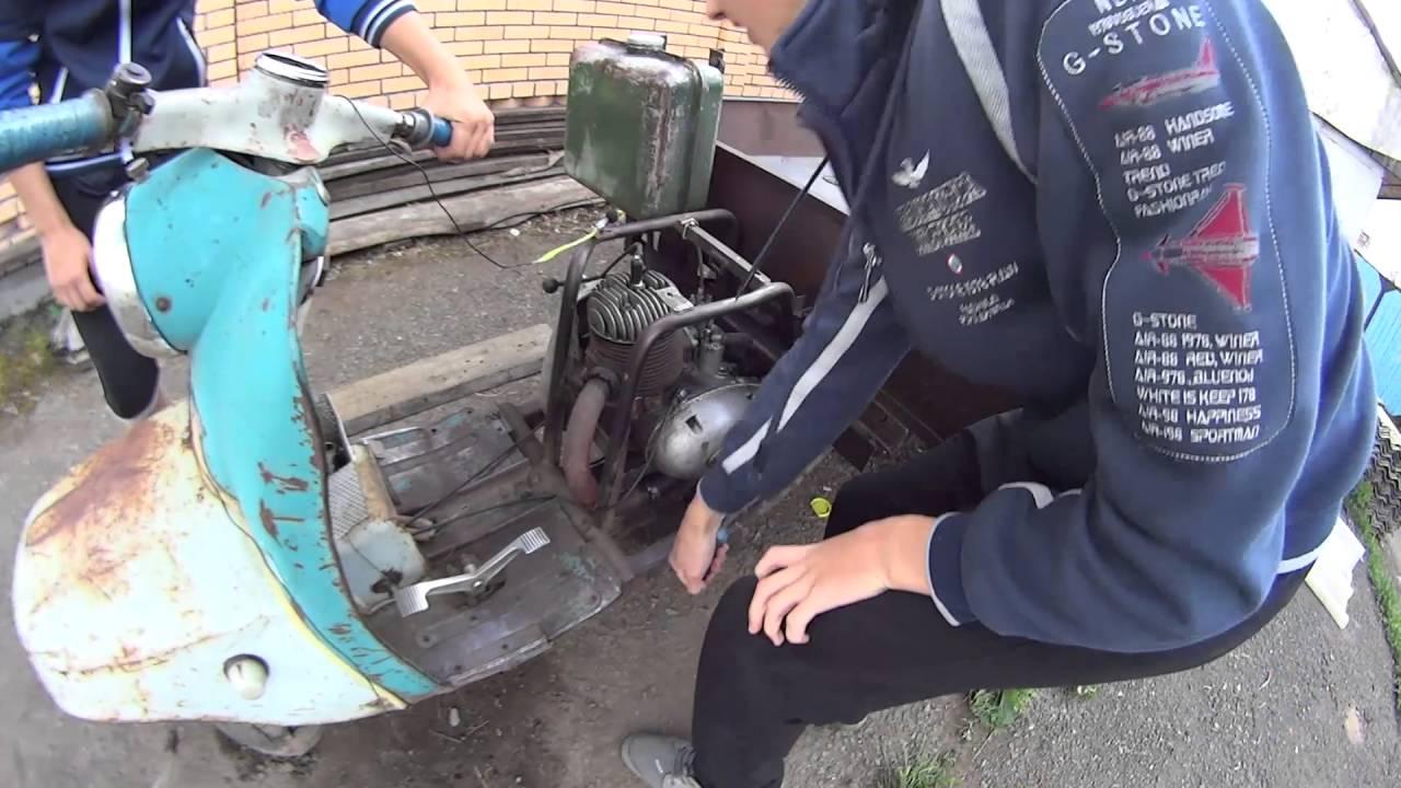 Муравей мотороллер бензин попадает в воздушный фильтр