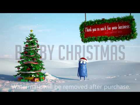create bobby christmas and new year greetings video 2 versions