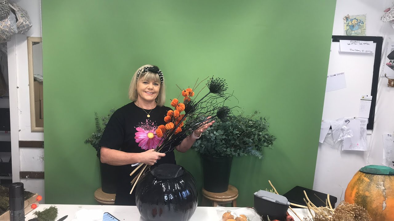 How To Make Halloween Floral Arrangements Youtube