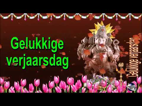 0 003 Afrikaans   24 seconds animated Video Greeting Happy Birthday