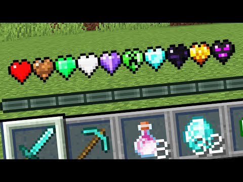 Minecraft but there are Custom Hearts