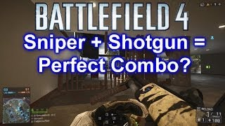 Battlefield 4 Sniper + Shorty12g = Best Combo? (BF4 SRR-61 Shorty12g Gameplay/Commentary)