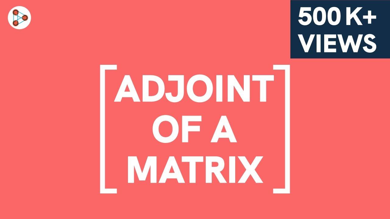 Matrices - Adjoint