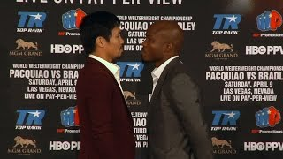 Manny Pacquiao vs. Timothy Bradley 3 Full Video- COMPLETE Press Conference & Face Off Video