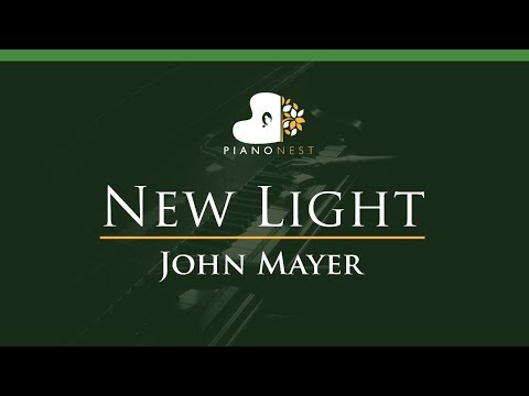 John Mayer - New Light - LOWER Key (Piano Karaoke / Sing Along)