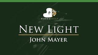 Download Lagu John Mayer - New Light - LOWER Key (Piano Karaoke / Sing Along) Mp3