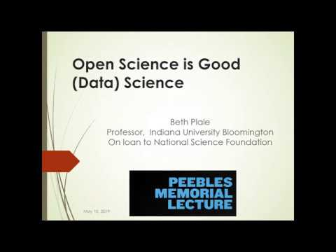 Dr. Beth Plale - 2019 Peebles Memorial Lecture in Information Technology