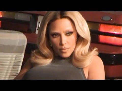 Behind the Scenes: Kim Kardashian on set of SKIMS Outdoor Basics Drop 1