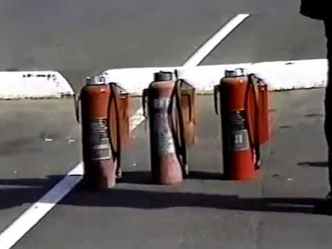 1982 Fire Extinguisher training at Mare Island Naval Shipyar