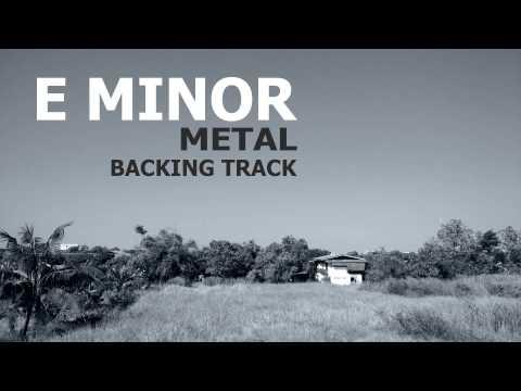 E Minor Modern Metal - Sad Melody - Guitar Backing Track