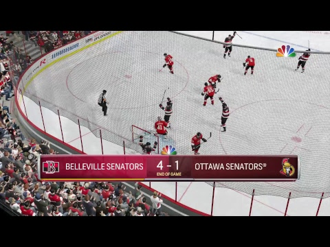 NHL 18 - Bellville Senators vs Ottawa Senators Full Gameplay