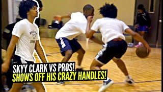 Skyy Clark Shows Off His Nasty Handles at Pro Runs!! Damn Near Crosses Up Everyone! #615ProRuns