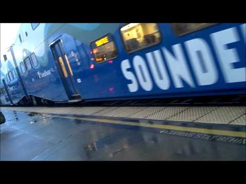 Getting on Sounder train at Puyallup