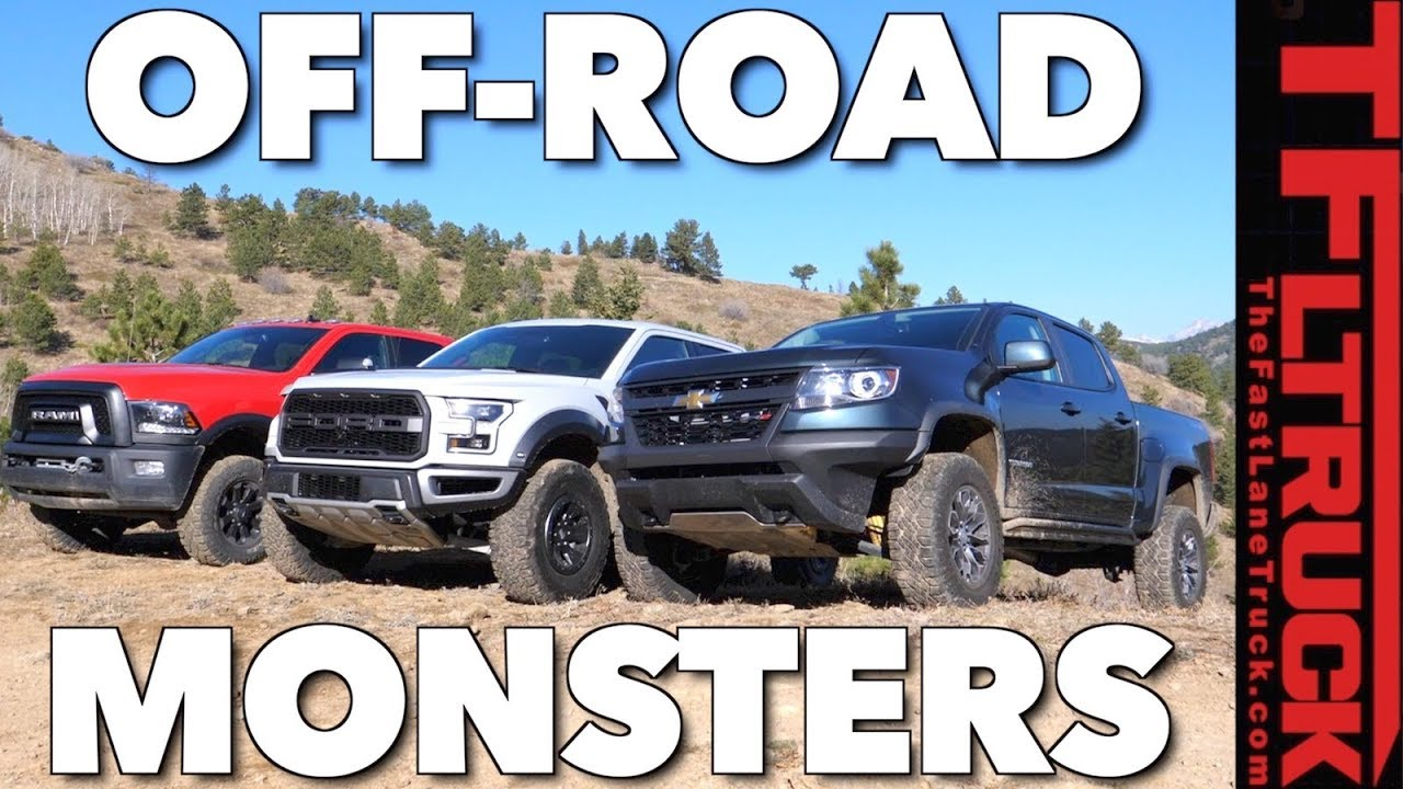 ultimate off road mashup chevy zr2 vs ford raptor vs ram. Black Bedroom Furniture Sets. Home Design Ideas