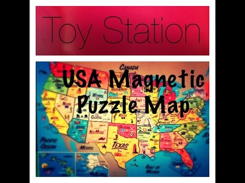 U.S.A. United States Magnetic Puzzle Map Educational Toy  States and Capital