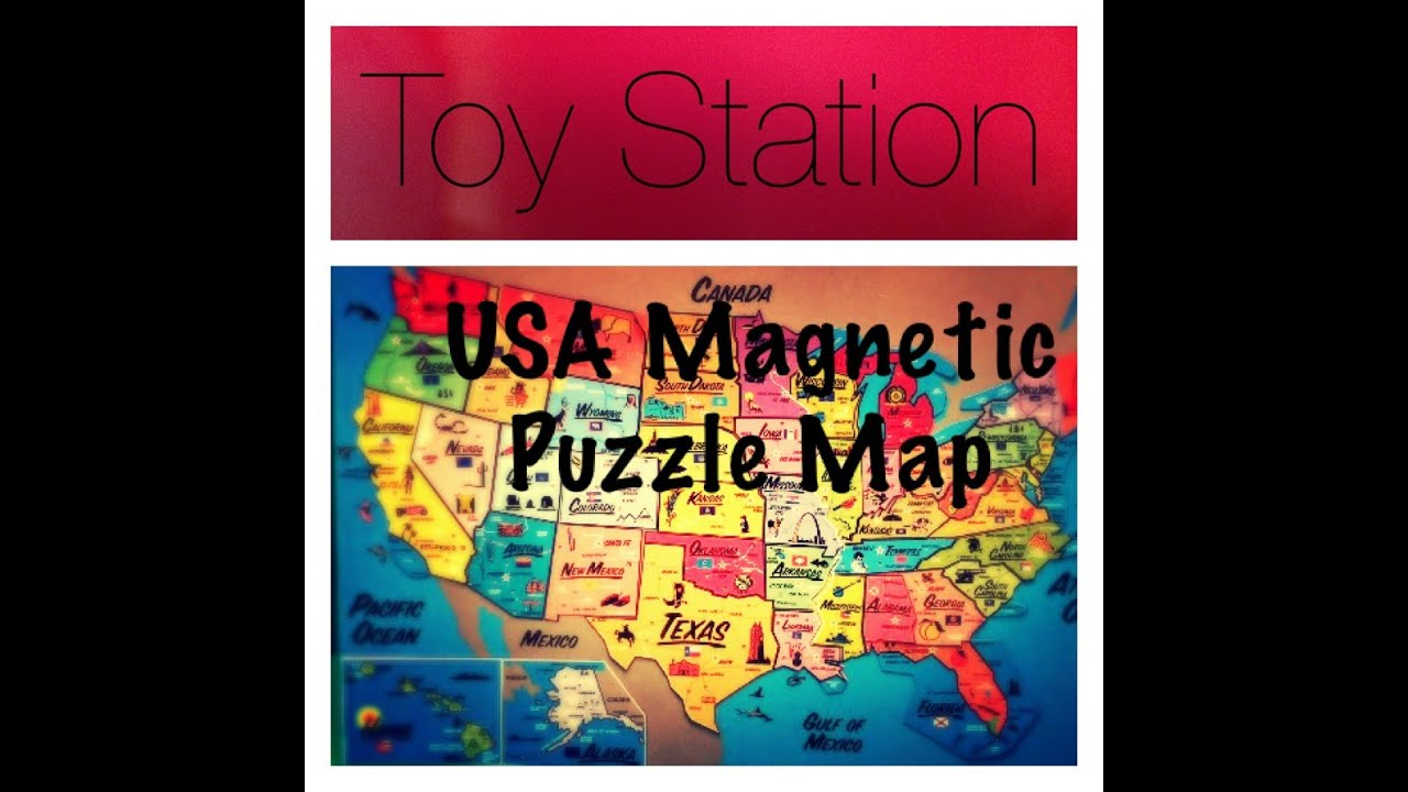 U S A United States Magnetic Puzzle Map Educational Toy States And Capital