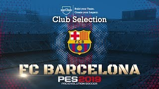 Fc barcelona club selection is live in #pes2019 #myclub. esrb rating: everyone visit the pes 2019 website for all details: https://www.konami.com/wepes/2...