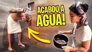 ACABOU A AGUA DA CASA!!! OLHA COMO EU TOMEI BANHO...