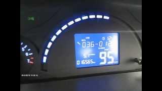 Чери Бит ( Индис ) + Видеорегистратор К 6000  расход топлива при 90 км.ч