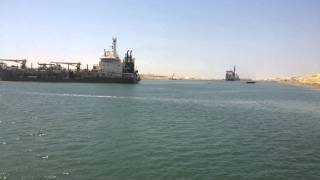 Video exclusive finished dredging the new Suez Canal July 24, 2015