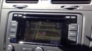 VW Navigation RNS 315 cannot locate the car. Video 2