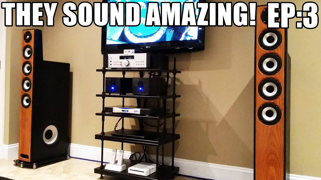 Part 3: The MONSTER Tower Speakers Are DONE + HiFi Components + Sound Demo