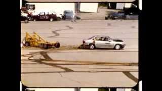 1998 Honda Accord   Oblique Moving Barrier Frontal Crash   CrashNet1