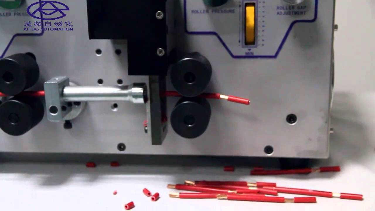Super thick wire cutting stripping machine, up to 25 sqmm - YouTube