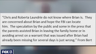 Brian Laundrie's parents claim no knowledge of his whereabouts