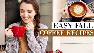 FAVORITE FALL COFFEE RECIPES! 🍁| Healthy & Easy Dupes for your favorite drinks! | Natalie Bennett
