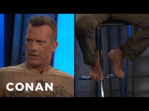 Thomas Jane Sports Bare Feet At ConanCon   CONAN on TBS