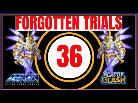 FORGOTTEN TRIALS 36 - BEST STRATEGY USING STORM EATER - CASTLE CLASH